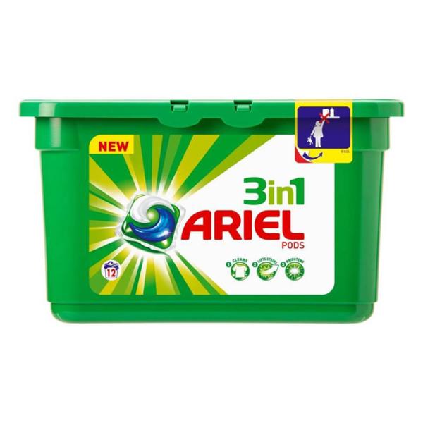 Ariel 3 in 1 Pods Laundry Detergent Capsules Original 12s