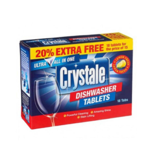 01 Crystale 5 In 1 Dishwasher Tablets 18 s