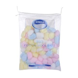 02 Athena Cotton Wool Balls Colour 100 s