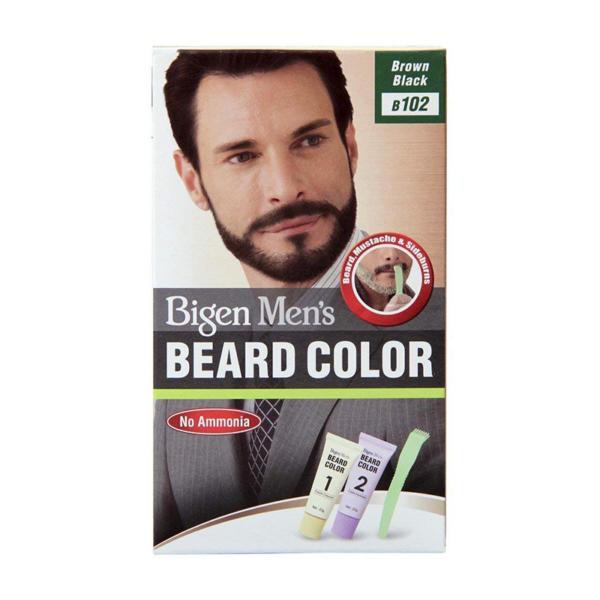 Bigen Men's Beard Colour Brown Black B102
