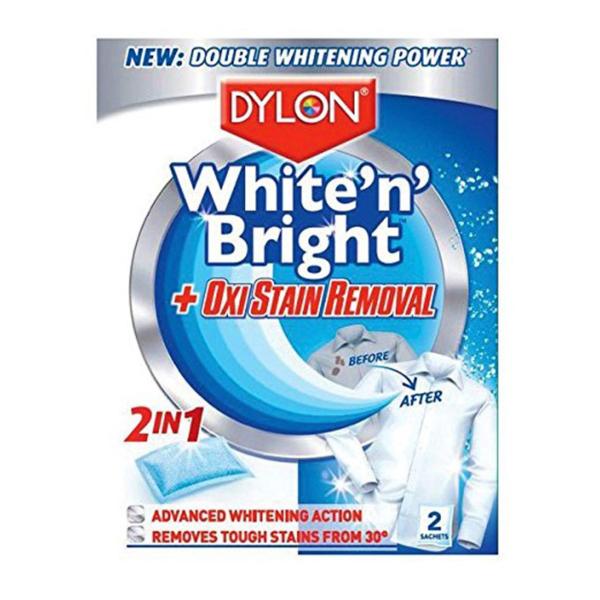 Dylon White N Bright Oxi Stain Removal Sachets