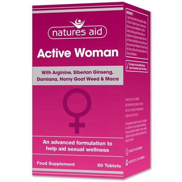 Natures Aid Active Woman 60s