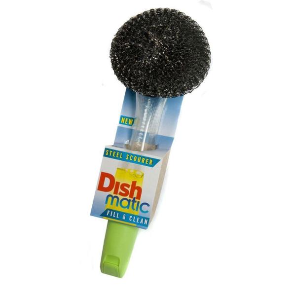 Dish Matic Steel Handle Brush Fill & clean
