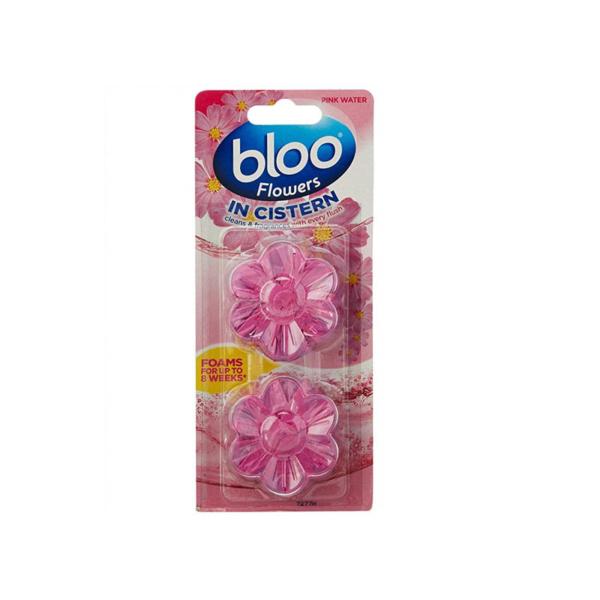 Bloo Flowers In Cistern Block Pink Water 2 x 38g