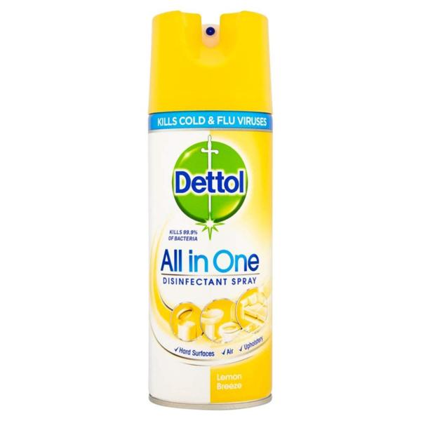 Dettol Disinfectant Spray 400ml - Lemon Breeze