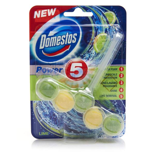 Domestos Power 5 Toilet Block Lime 55g