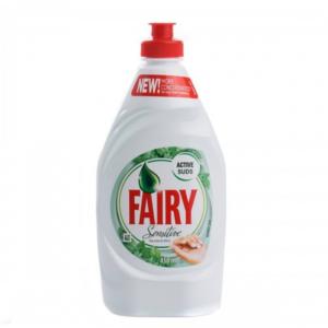 Fairy Active Suds Dishwashing Liquid Sensitive Tea Tree And Mint 450ml