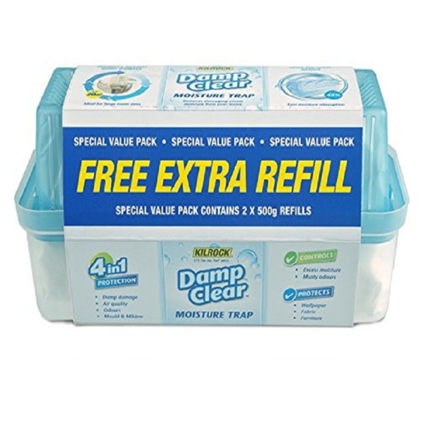 Kilrock Damp Clear Moisture Trap Super Value with Free Extra Refill 500g