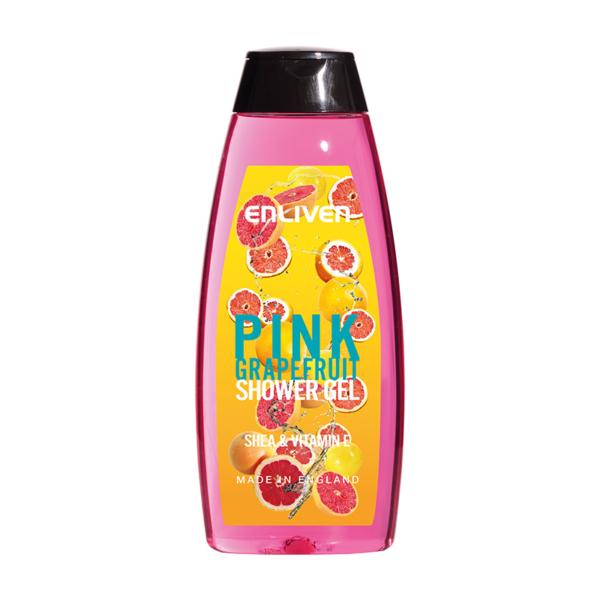 Enliven Fruit Shower Gel Pink Grapefruit 400ml