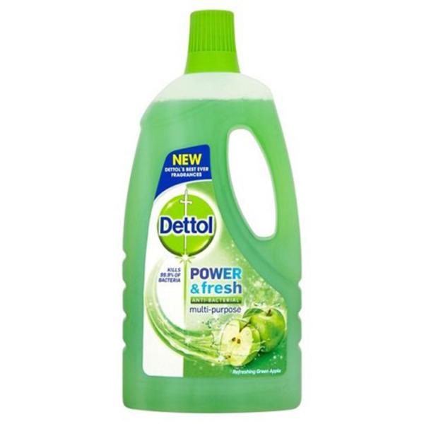 12 Dettol Clean Fresh Multi Purpose Floor Cleaners 500ml Green Apple