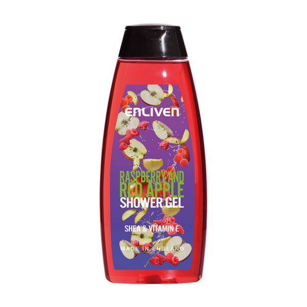 15 502384 Enliven Fruit Shower Gel Raspberry Apple