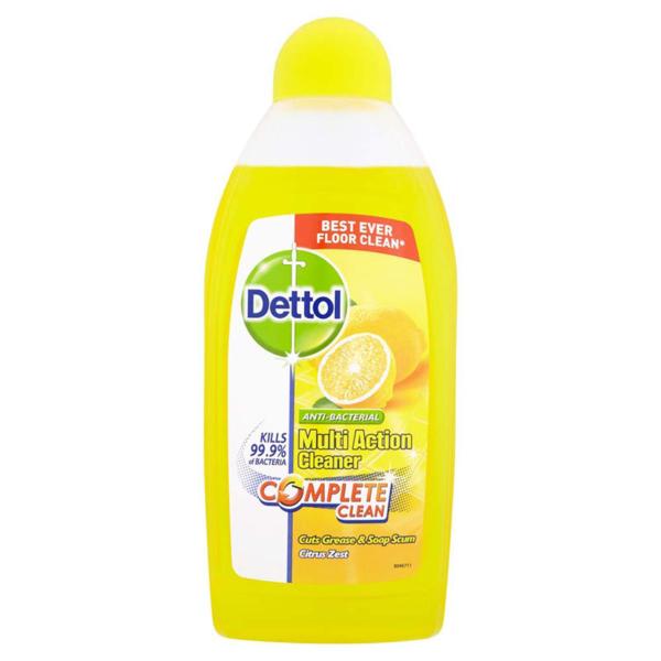 Dettol Anti Bacterial Multi Action Cleaner 450ml - Citrus Zest
