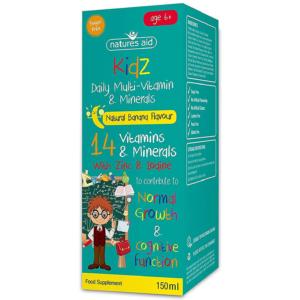 Natures Aid Kidz 6+ Multi-Vitamin & Mineral Liquid 150ml