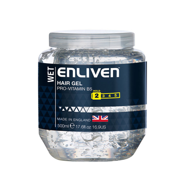 Enliven XL Hair Gel Wet Look 500ml -Clear