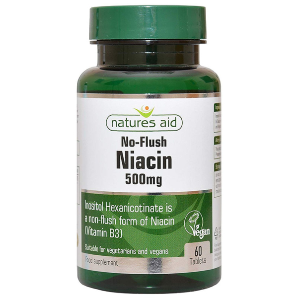Natures Aid Niacin Vitamin B3 500mg 60s