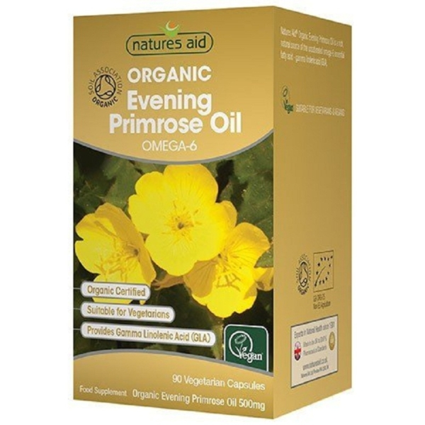 Natures Aid Organic Evening Primrose Oil-Vegan 500mg 90s
