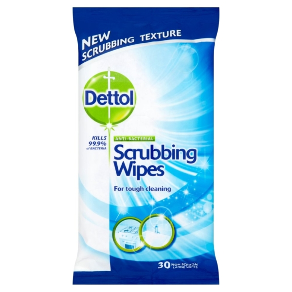 Dettol Scrubbing Wipes 30 Large Wipes