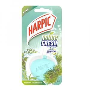 Harpic Nature Fresh Hygienic Toilet Block Mountain Pine 40g 1