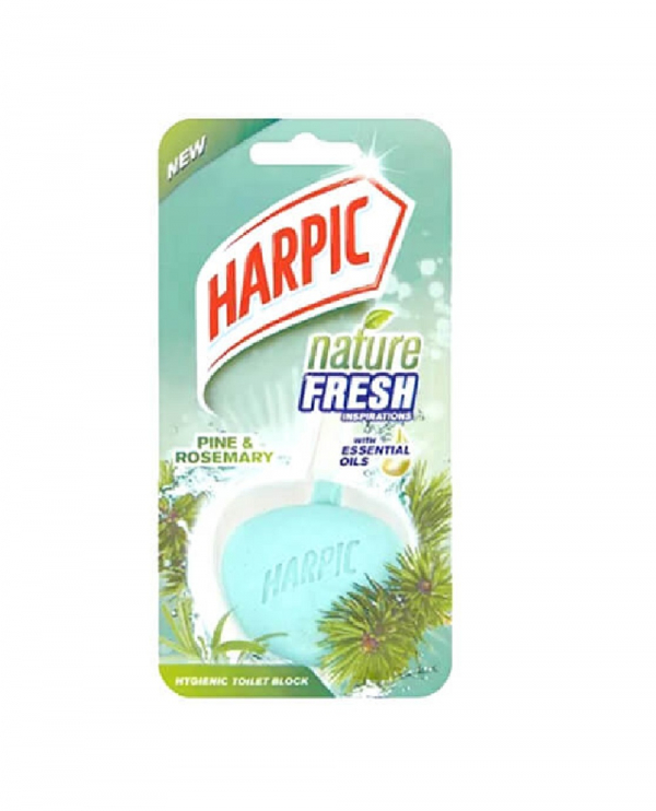 Harpic Nature Fresh Hygienic Toilet Block Mountain Pine 40g 1