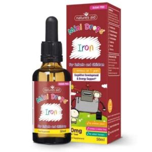 Natures Aid Iron Mini Drops Sugar Free 50ml
