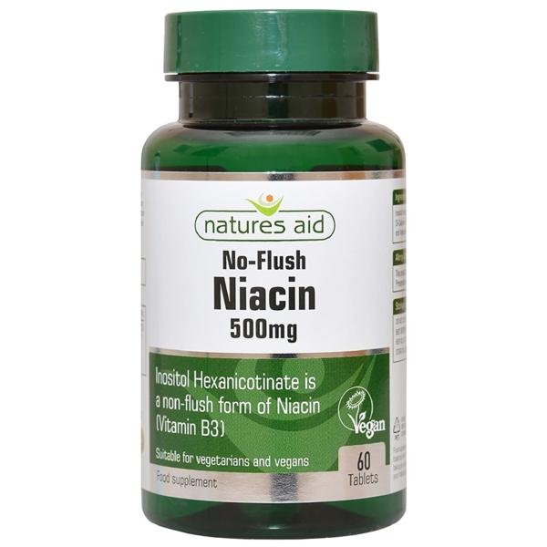 Natures Aid Niacin Vitamin B3 500mg 60 Tablets