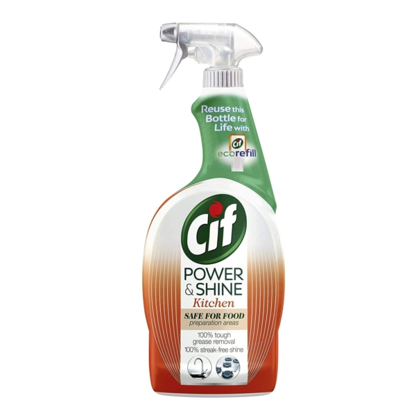 cif power and shine kitchen cleaner 750 ml with orange and tangerine