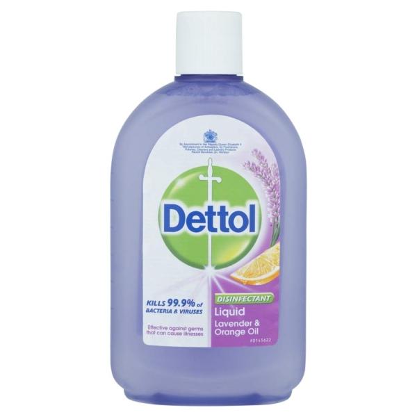dettol disinfectant liquid lavender orange oil