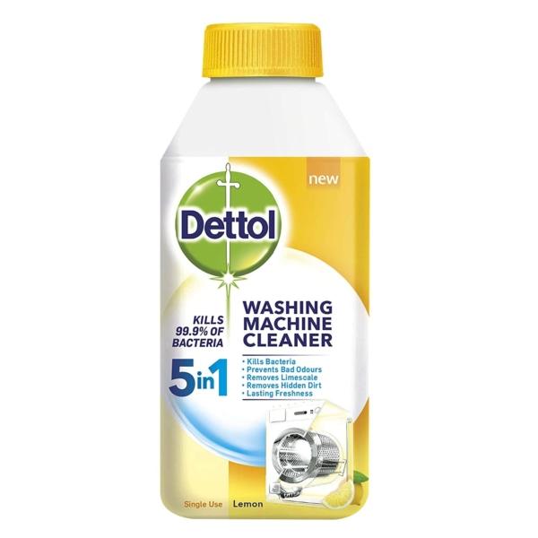 dettol washing machine cleaner 5 in 1 lemon 250 ml