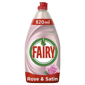 fairy cleancare rose and satin 820 ml