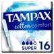 tampax cotton comfort 16 super