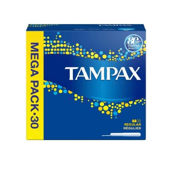 tampax regular 30 mega pack
